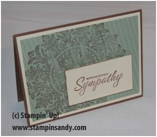 Sympathy Card February 2010 stampinsandy Sandy Hoefakker Stampin' Up!
